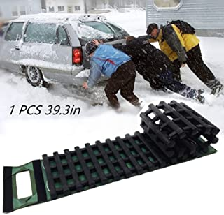 EVTIME Emergency Devices 39.3Inch Tire Traction Mats, Portable for Snow, Ice, Mud, and Sand Used to Car, Truck, Van or Fleet Vehicle