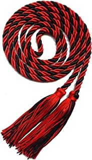 Graduation Honor Cord Two-Color Braided Grad Days (red Black)
