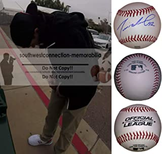 Dereck Rodriguez San Francisco Giants Autographed Hand Signed Baseball with Exact Proof Photo of Signing and COA