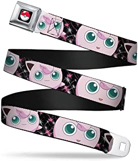 POKEMON//BULBASAUR Poses//Leaves Greens 20-36 Inches in Length 1.0 Wide Buckle-Down Seatbelt Belt