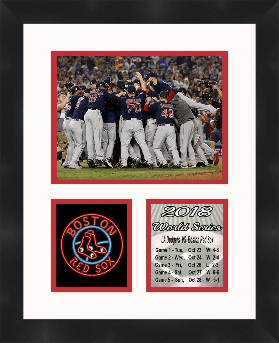 Boston Red Sox - 2018 World Series Col 11 Champions Some reservation Manufacturer direct delivery Matted 14 x