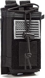 Tactical Radio Holder Radio Case Molle Radio Holster Military Heavy Duty Radios Pouch Bag for Two Ways Walkie Talkies Adju...