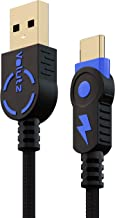 Volutz USB Type C Cable, USB A 2.0 to USB-C Fast Charger, Nylon Braided Cord for Samsung Galaxy S10 S9 S8 Plus Note 9 8, LG V30 V20 G5 Moto Z, Nintendo Switch and More USB C Devices - 10ft/3m (Blue)