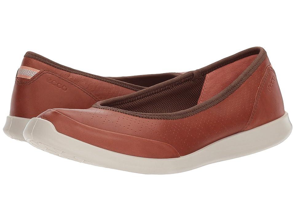 ECCO Sense Flat (Mahogany Cow Leather) Women
