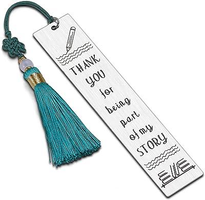 Teacher Appreciation Gifts Metal Bookmark Thank You Graduation Teachers Day Christmas Birthday Gifts for Women Music Preschool Pe Spanish Daycare Teacher Tutor Professor Special Education Teachers
