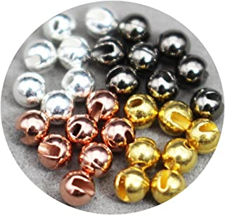 24 pcs/lot 4 Colors 3.3mm Nice-Designed Slotted Tungsten Beads Fly Tying Beads Materials