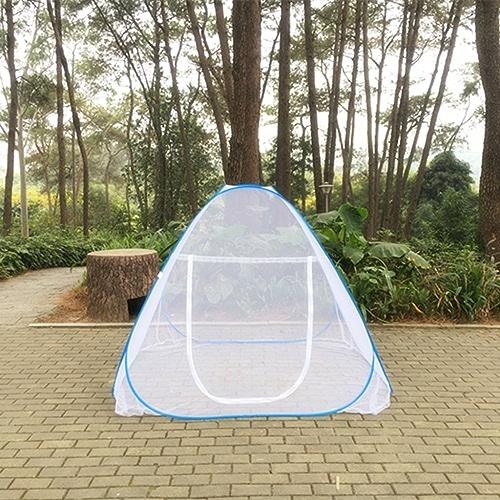 Zheng Hui Shop Filets pliants Camping moustiquaires portatives installent des moustiquaires Blanches
