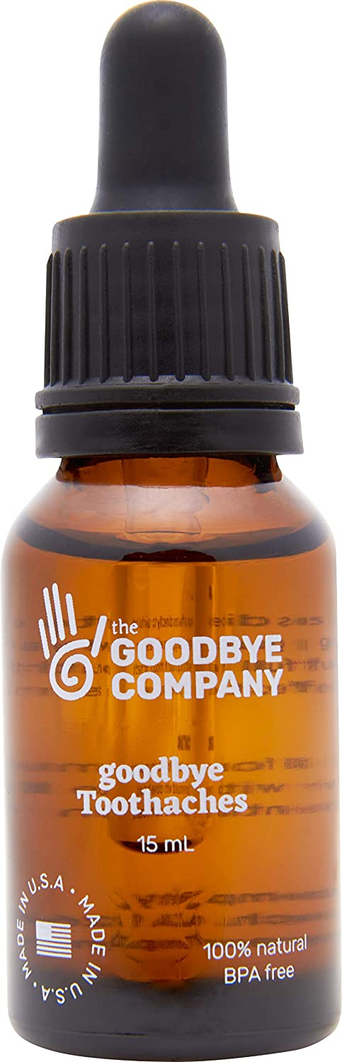 GoodBye Toothaches – Tooth Ache Pain Relief with Clove Bud Oil, Peppermint Oil; Homeopathic Remedy for Tooth Pain Made from Essential Oils and Omega 9; Relieves Mouth Pain and Reduces Inflammation
