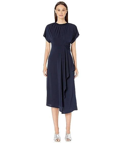 YIGAL AZROUËL Matte Jersey Asymmetric Shirred Waist