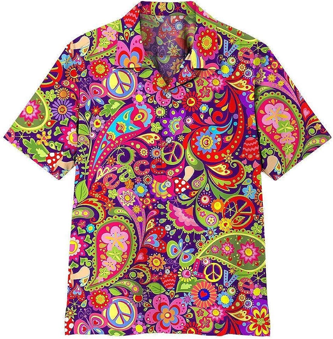 XStyles18 3D Hippie Pattern Raleigh Mall Hawaii Regular store Shirt
