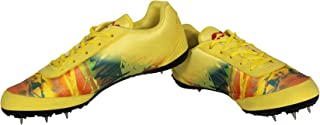 Nivia Zion-1 Running Spikes Shoes-Yellow