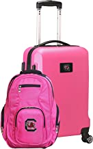 NCAA Deluxe 2-Piece Backpack & Carry-On Set, Pink
