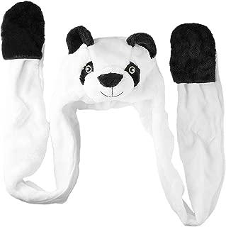 Panda Bear Cute Plush Animal Winter Ski Hat Beanie Aviator Style Winter