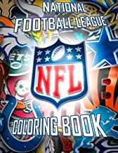 National Football League Coloring Book: NFL Logos and Famous Players
