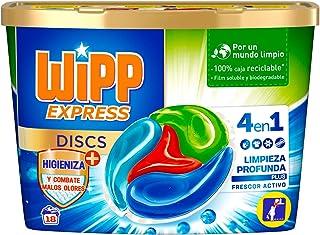 Wipp Express DISCS Higiene & Antiolores Detergente en Cápsulas 4 en 1-18 Dosis