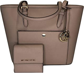 e595e6616b23 Michael Kors Jet Set MD TZ Snap Pocket Tote bundled with Michael Kors Jet  Set Travel