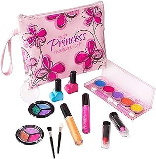 Playkidz- Set de Maquillaje cosmético y Real Lavable Estuche Diseño Floral (3032)