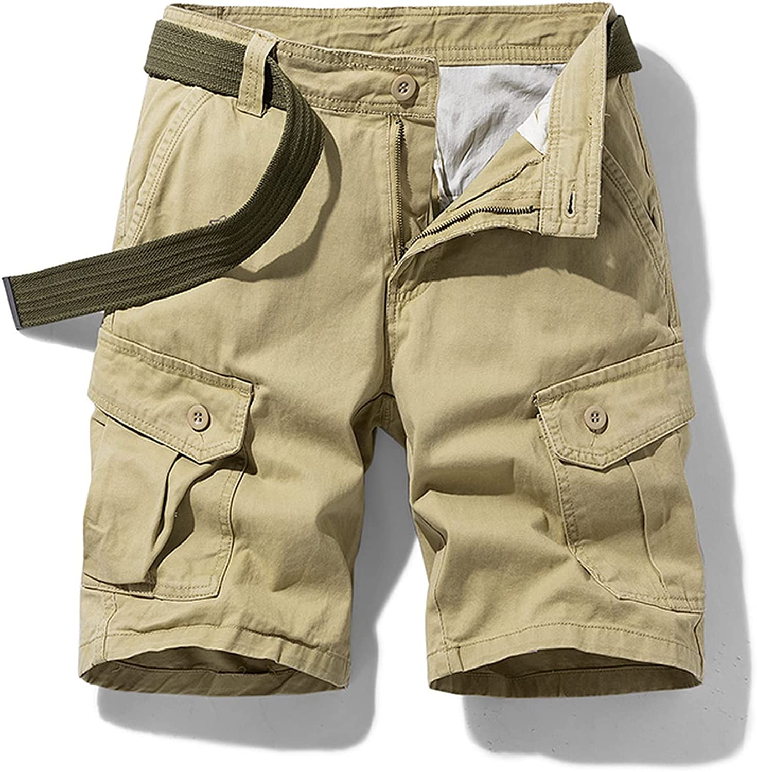 Sukyy Summer New Cargo Shorts Pure Cotton Men Casual Camouflage Outdoor Military Loose Work Army Tactical