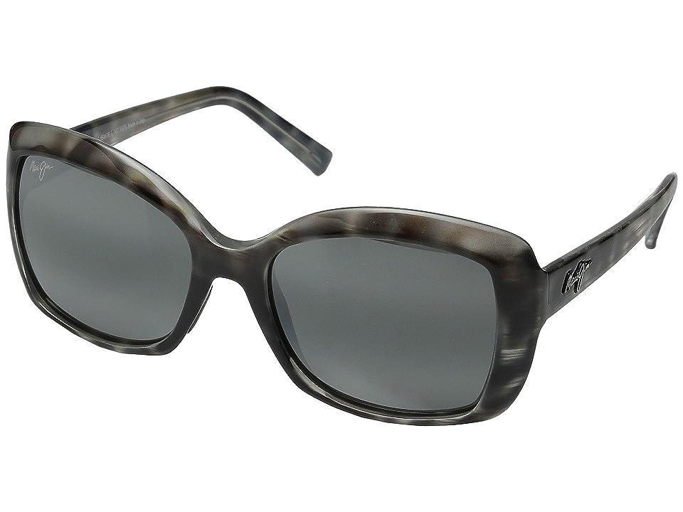 Maui Jim Orchid (Grey Tortoise Stripe/Neutral Grey) Polarized Fashion Sunglasses