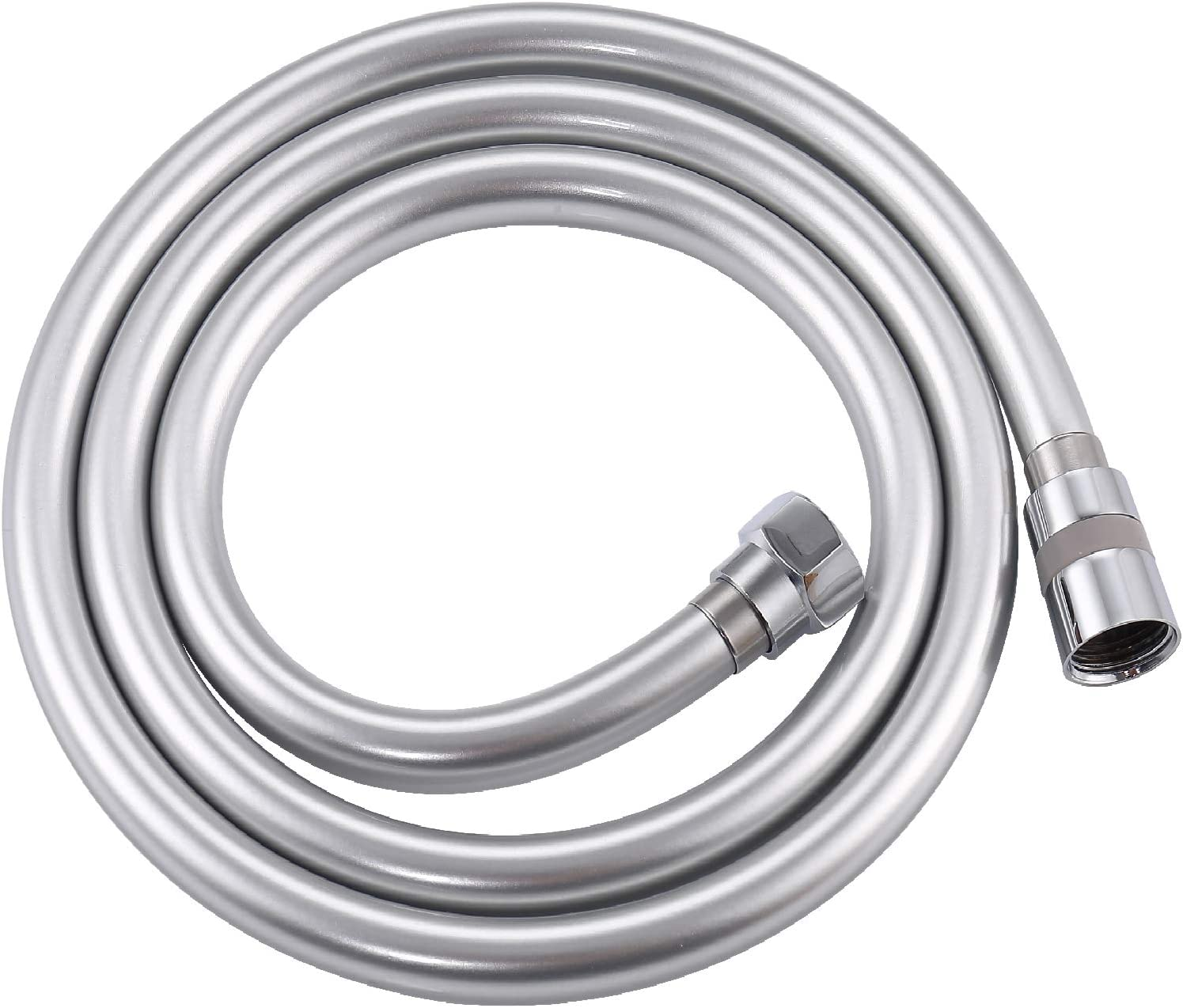 Krodo PVC Smooth Shower Hose 1.5M 59 Inch with Anti-Twist Brass Connections