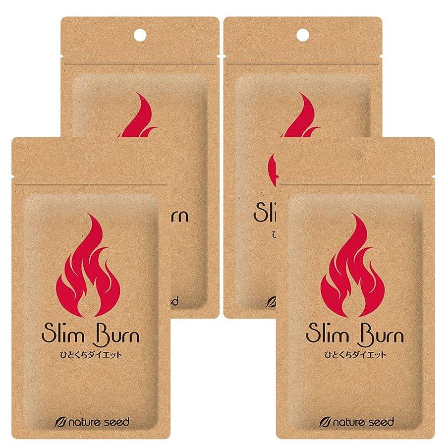 転用複数マージ[燃焼サポートサプリ]ダイエット くびれメイク サプリメント スリムバーン 4袋(約120日分)