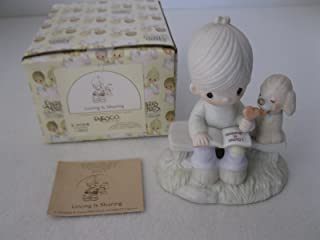 Precious Moments Figurine - Loving Is Sharing - Boy #E-3110B