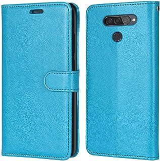 Laybomo Carcasa para LG Q70 Tapa Funda Cuero Estilo-Sencillo Monederos Billetera Bolsa Magnética Protector Silicona Suave ...