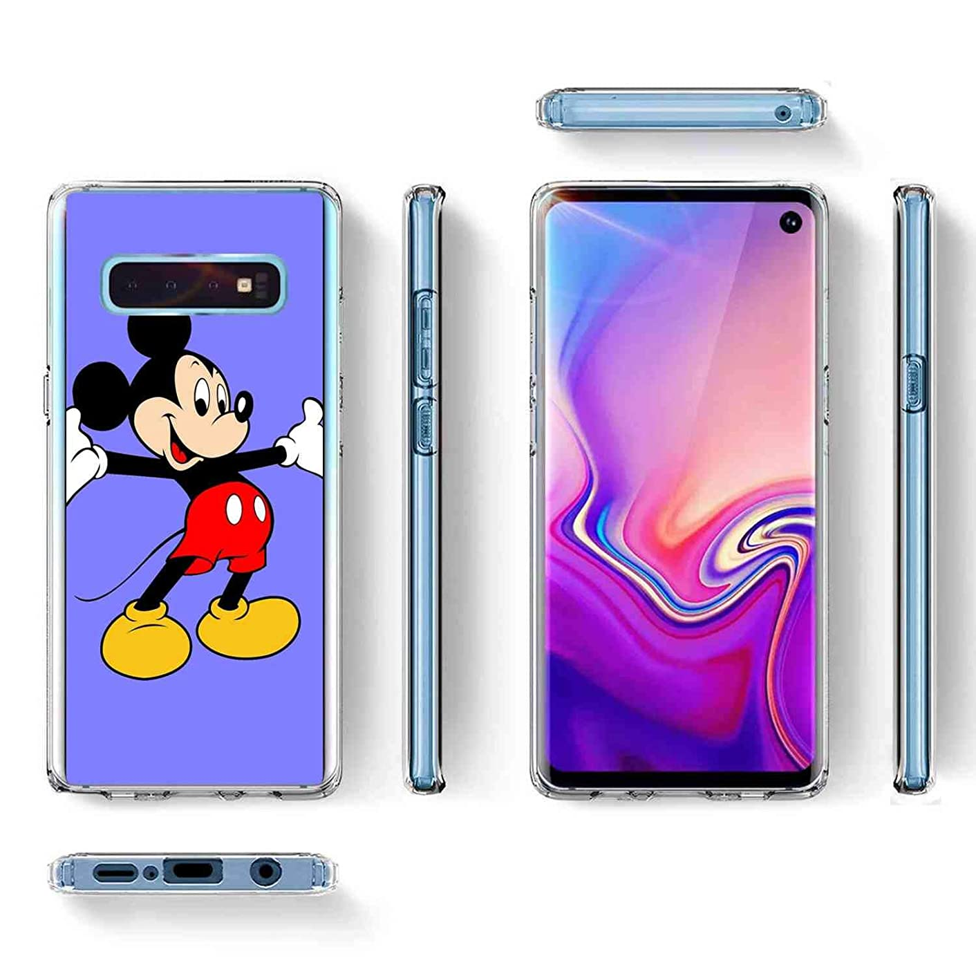 DISNEY COLLECTION Compatible for Galaxy S10e (5.8 Version) Cartoon Character Film Logo Mickey Mouse Star Tv