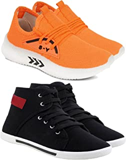 Camfoot Kids & Boys (1658-1212) Multicolor Casual Stylish Sports Shoes (Set of 2 Pair)