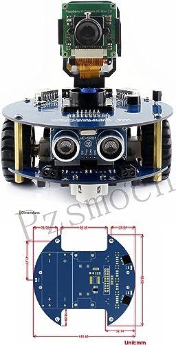 AlphaBot2 Robot Building Kit For Raspberry Pi Zero Zero W@Pzsmocn,Obstacle Avoiding,Ultrasonic Ranging,Blautooth IR WiFi Remote Control,Video Monitoring