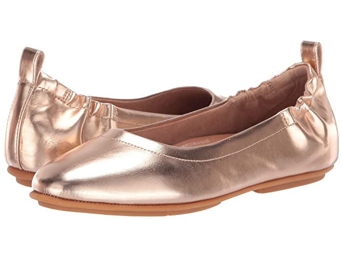 FitFlop  Allegro (Rose Gold Metallic) Womens Flat Shoes