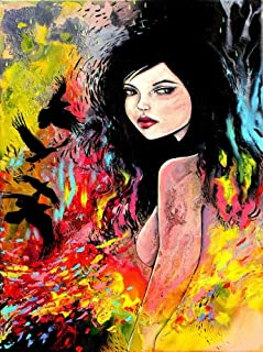 Surreal Female Nude and Crows Dark Art PRINT - Flock - Contemporary Poster by Aja choose size and type of paper
