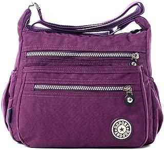 Toupons Women's Casual Multi Pocket Nylon Messenger Bags Cross Body Shoulder Bag Travel Purse