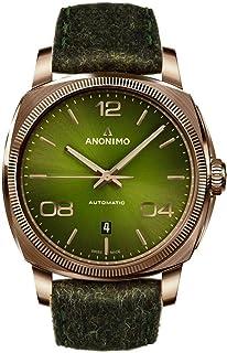 Anonimo - epurato Reloj para Hombre Analógico de Automático con Brazalete de Piel de Vaca AM400004466F66