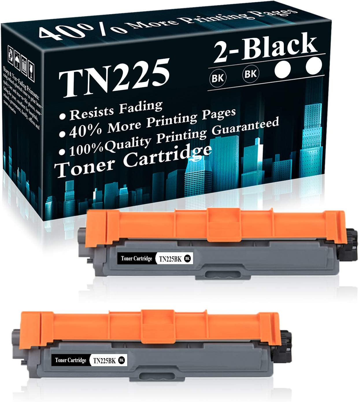 2 Black TN225 TN225BK Animer and price Super-cheap revision Toner for Cartridge Replacement Brother