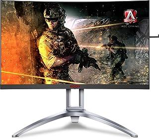 AOC Agon AG241QX Monitor de Videojuegos de 24 Pulgadas, QHD 1440P, Compatible con G-Sync + Adaptive-Sync