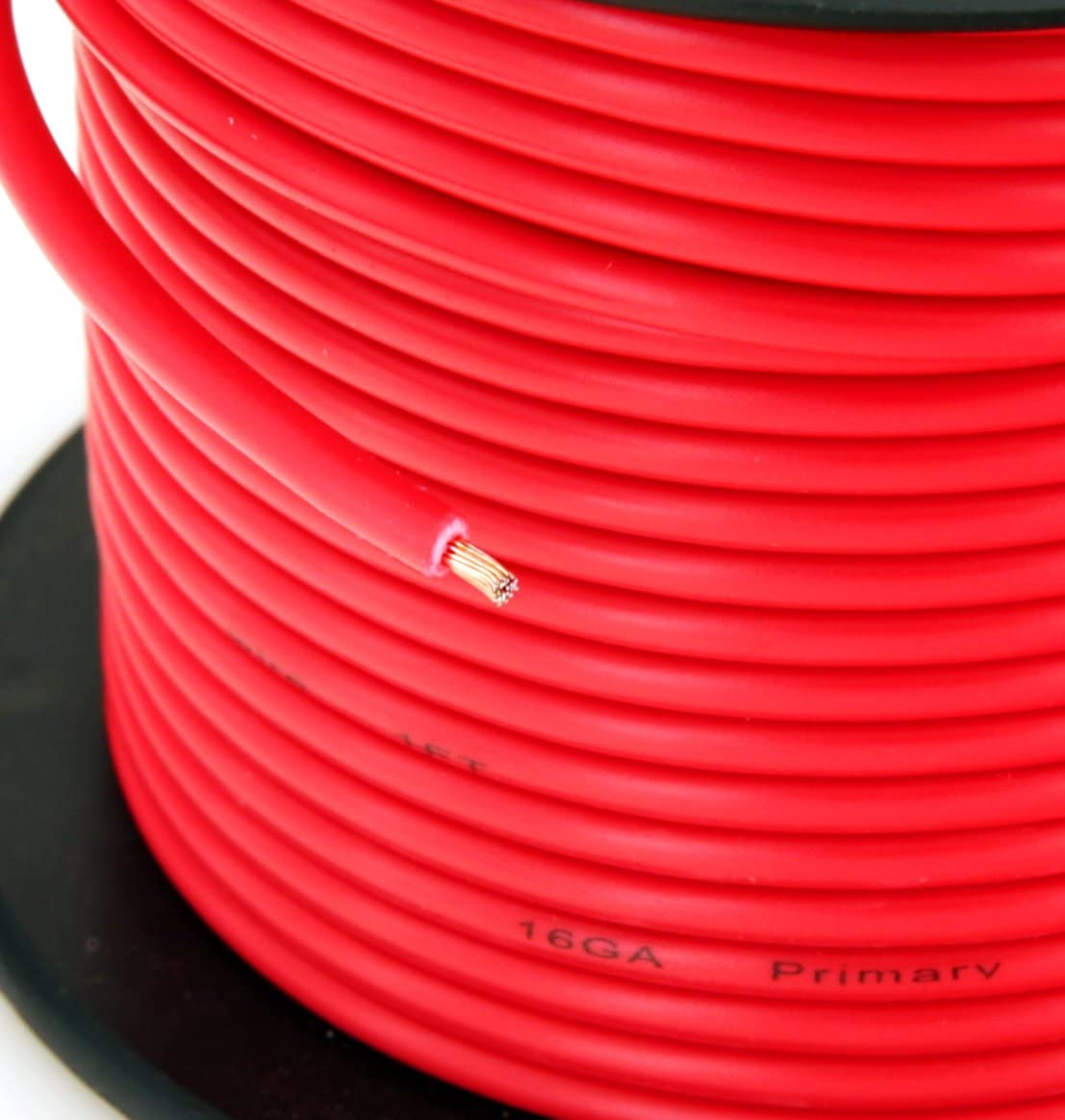 GS Power 16 Gauge Stranded Flexible Copper Clad Aluminum CCA Primary Automotive Wire for Car Stereo Amplifier 12 Volt Trailer Replacement Harness Hookup Wiring. 100 ft Red & 100 feet Black: Automotive