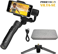 Freevision VILTA-SE 3-Axis Handheld Gimbal Stabilizer for Smartphone, Focus/Zoom, Centralize Control, Bluetooth Microphone, Fv Share App Compatible iOS 9.0/Android 5.0 Above