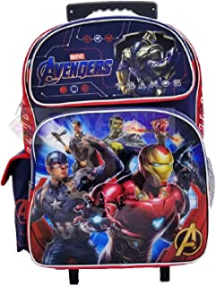 "Avengers Super Hero 16"" Rolling Backpack Book Bag Travel Case"