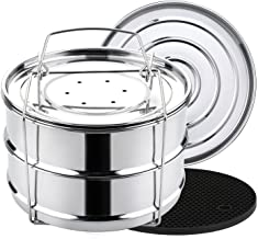 Aozita Stackable Steamer Insert Pans with Sling for Instant Pot Accessories 6/8 qt - Pot in Pot, Baking, Casseroles, Lasag...