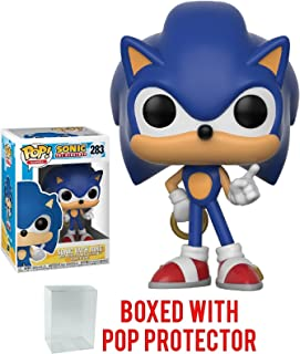 Funko Pop! Games: Sonic The Hedgehog - Sonic with Ring Vinyl Figure (Bundled with Pop BOX PROTECTOR CASE)