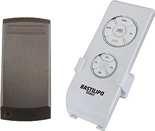 Bastilipo 5230-Kit Kit Mando a Distancia 4 Frecuencias-3 velocidades y posición de Apagado Soporte de Pared-Compatible con la mayoría de los Ventiladores de Techo 5230, Blanco