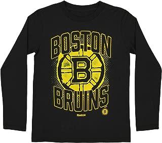 Reebok Boston Bruins NHL Big Boys Youth (8-20) Washed Away Long Sleeve T-Shirt, Black