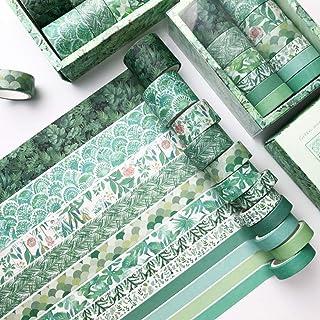 PBM 季節や気分に合わせて使えるマスキングテープ セット グリーン デザインマステ 無地マステ かわいい パターン 柄マステ 緑