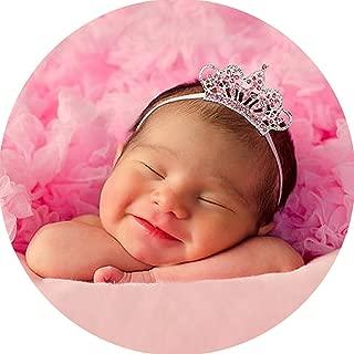 Miugle Baby Girl Headbands with Rhinestone Tiara