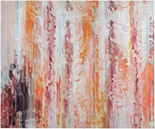 Urban Habitat Passion Coral Gel Coat Canvas with Palette Knife Coral See Below
