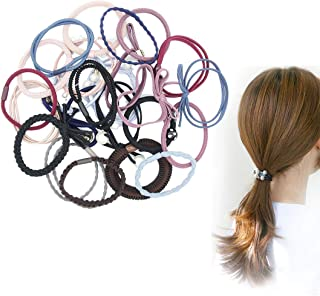 24 Pieces Elastic Hair Ties, Elegant Pearl Decorative Hair Braid Rings Minimalist Style Hairbands with for Women, Fits All Hairstyle