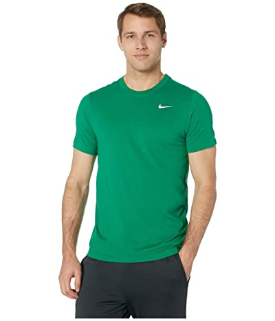 Nike Dry Tee Dri-FITtm Cotton Crew Solid (Pine Green/White) Men