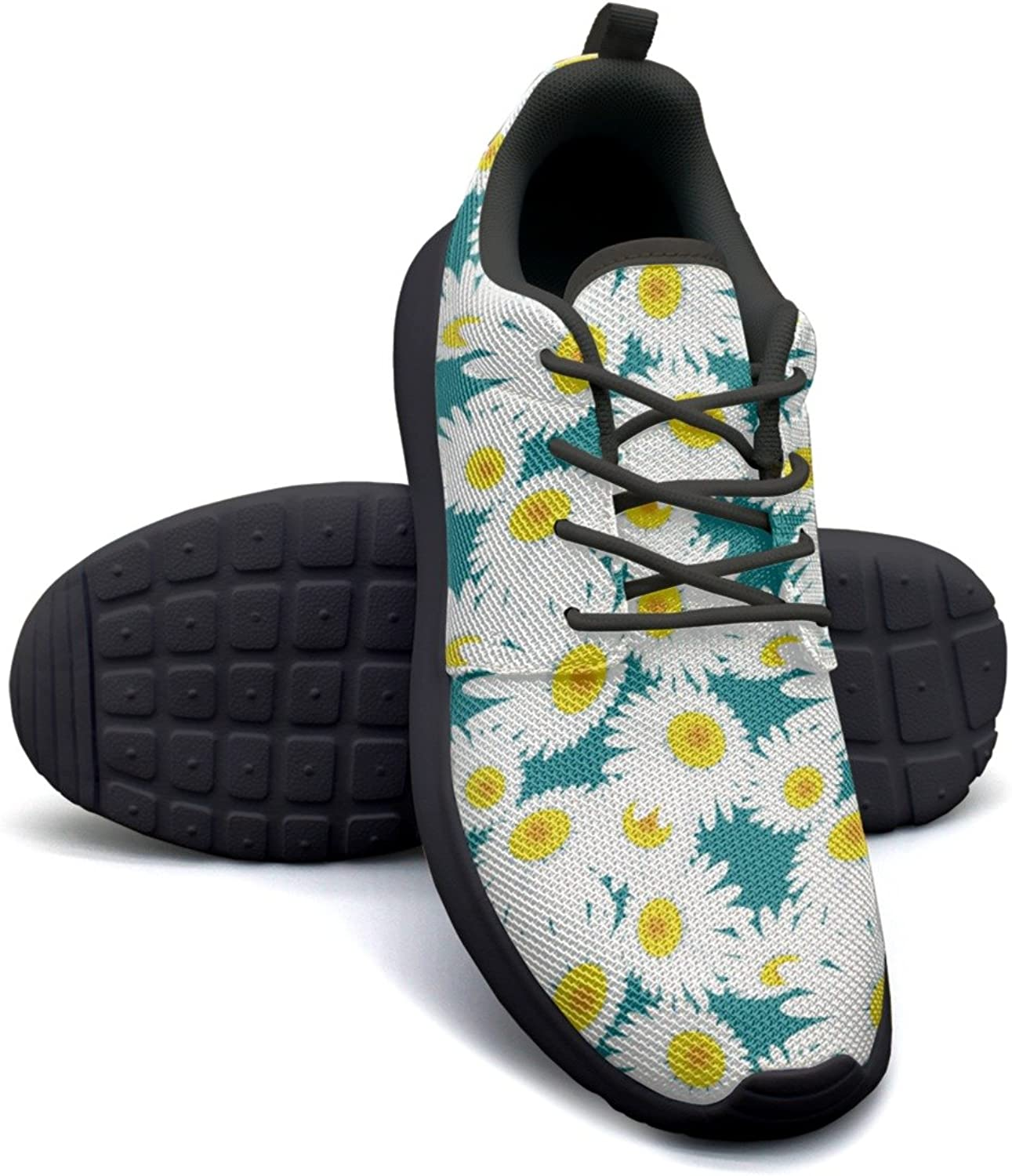 Eoyles gy Chamomile Flowers Daisy Plant Woman Slip Resistant Lightweight Running Basketball shoes