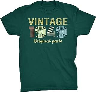 70th Birthday Gift T-Shirt - Retro Birthday - Vintage 1949 Original Parts